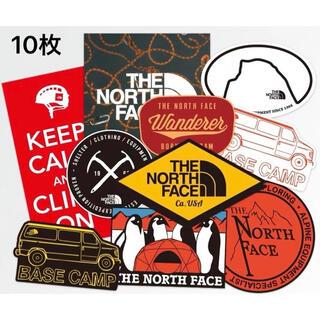 THE NORTH FACE - ★発送補強有り★ノースフェイスアウトドア キャンプ 防水ステッカー10枚セット
