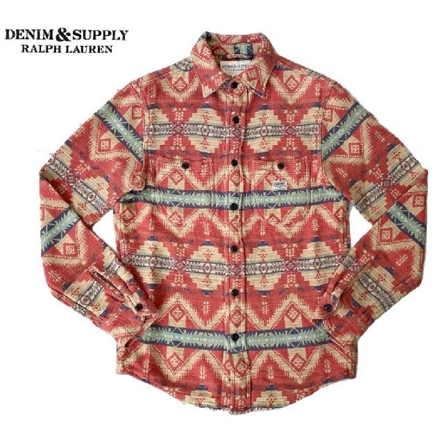 Denim & Supply Ralph Lauren(デニムアンドサプライラルフローレン)のラルフローレン DENIM&SUPPLY ネイティブ柄 長袖シャツ  メンズのトップス(シャツ)の商品写真