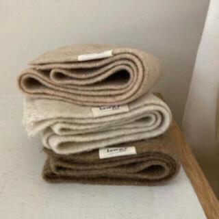 カスタネ(Kastane)の最終値下げ!lawgy simple knit muffler beige(マフラー/ショール)