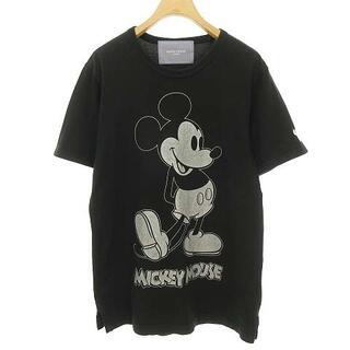 マスターマインドジャパン(mastermind JAPAN)のマスターマインド × ミッキーマウス コラボ Tシャツ XXS ブラック(Tシャツ(半袖/袖なし))