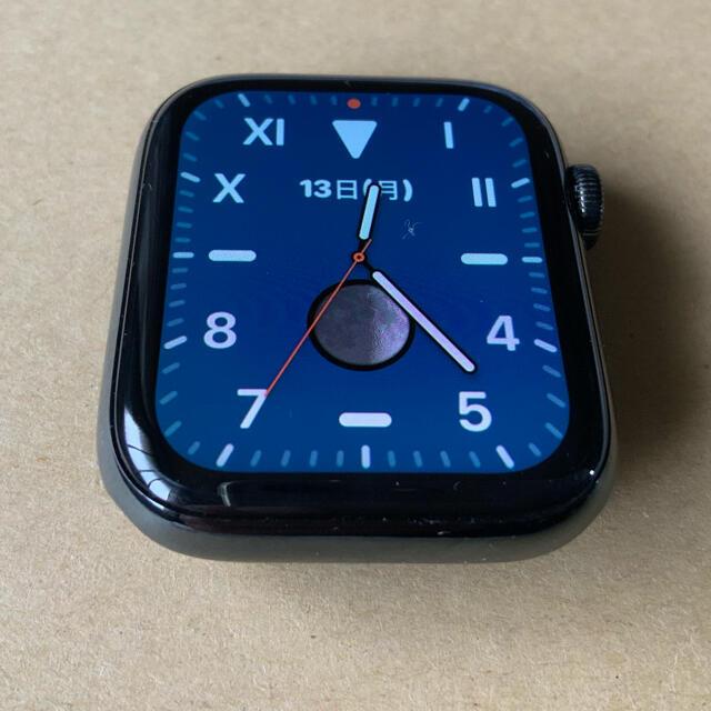 Apple Watch(アップルウォッチ)のApple Watch 4 stainless 44mm 美品 スマホ/家電/カメラのスマホ/家電/カメラ その他(その他)の商品写真