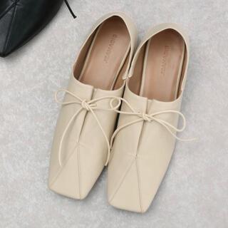 ジーナシス(JEANASIS)の【未使用新品】JEANASIS ソフトレザーキリカエシューズ(ローファー/革靴)