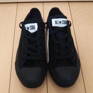CONVERSE - コンバース オールスター 黒 スニーカー 靴 ロー ALL STAR OX
