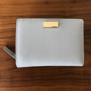 kate spade NEW YORK 二つ折り財布 ブルーグレー(財布)