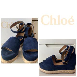 Chloe - クロエ ネイビースエード サンダル