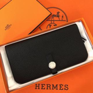 エルメス(Hermes)の新品 エルメス ドゴンロング 黒(長財布)