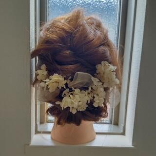 プリザーブドフラワー髪飾り006(プリザーブドフラワー)