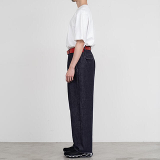COMOLI - Graphpaper ColorfasDenim Two Tuck Pants