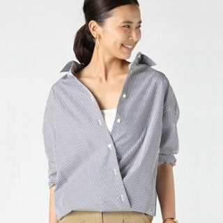 DEUXIEME CLASSE - ドゥーズィエムクラス 2wayカシュクールシャツ