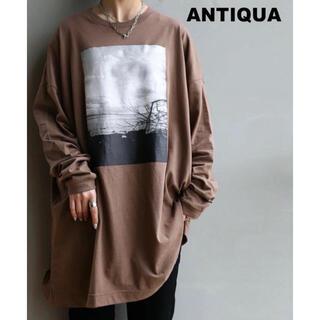 antiqua - 【 antiqua(アンティカ)】フォトプリント カットソー