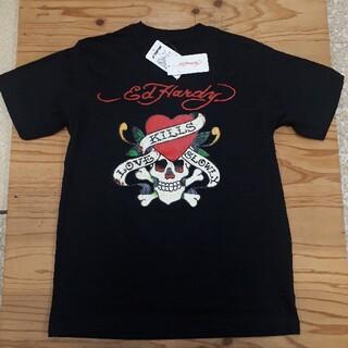 エドハーディー(Ed Hardy)の新品タグ付き 黒 ドクロ エドハーディー Tシャツ Lサイズ(Tシャツ/カットソー(半袖/袖なし))