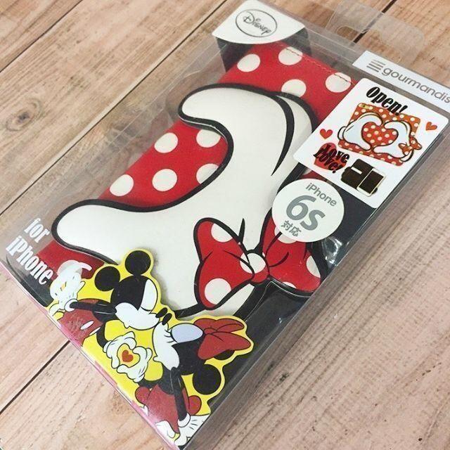 ミッキーマウス(ミッキーマウス)のiPhone6s/6 ミニー ミッキー フリップケース 赤 DN283RD スマホ/家電/カメラのスマホアクセサリー(iPhoneケース)の商品写真