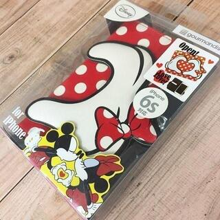 ミッキーマウス(ミッキーマウス)のiPhone6s/6 ミニー ミッキー フリップケース 赤 DN283RD(iPhoneケース)