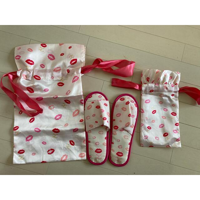 Maison de FLEUR(メゾンドフルール)のMaison de fleur 携帯スリッパ 巾着 インテリア/住まい/日用品のインテリア小物(スリッパ/ルームシューズ)の商品写真