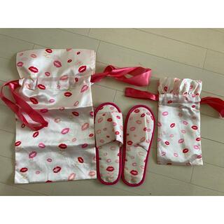Maison de FLEUR - Maison de fleur 携帯スリッパ 巾着