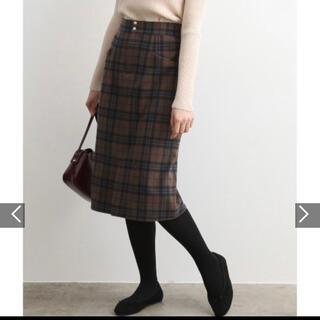 ヴィス(ViS)のチェックタイトスカート(ひざ丈スカート)