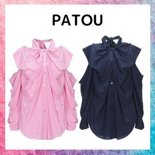 Drawer - patou パトゥ シルク シャツ ブラウス