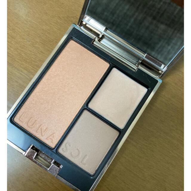 LUNASOL(ルナソル)のルナソル 2021AW限定色 シークレットシェイプパレット ex01 コスメ/美容のベースメイク/化粧品(チーク)の商品写真
