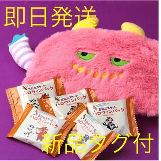 カルディ(KALDI)のカルディ ハロウィン モンスターポーチ ピンク 小物入れ カルディ 新品タグ付(ポーチ)