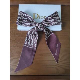 クリスチャンディオール(Christian Dior)のクリスチャンディオール スカーフ ブラウン❗️シンプルでオシャレ❗️(バンダナ/スカーフ)