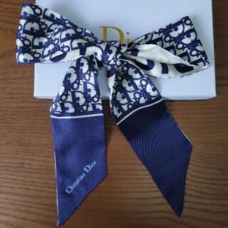 クリスチャンディオール(Christian Dior)のクリスチャンディオール スカーフ ブルー❗️シンプルでオシャレ❗️❗️(バンダナ/スカーフ)