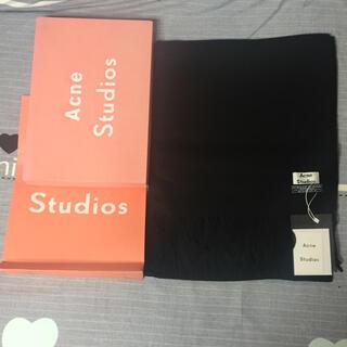 アクネ(ACNE)のacne studios マフラー黒(マフラー/ショール)