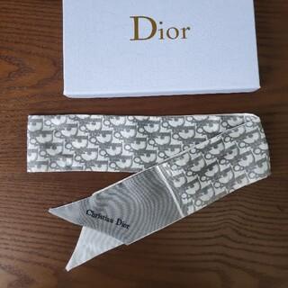 クリスチャンディオール(Christian Dior)のクリスチャンディオール スカーフ 灰色❗️シンプルでオシャレ❗️❗️(バンダナ/スカーフ)