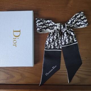 クリスチャンディオール(Christian Dior)のクリスチャンディオール スカーフ ブラック❗️シンプルでオシャレ❗️❗️(バンダナ/スカーフ)