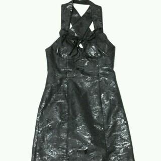 ヴィヴィアンウエストウッド(Vivienne Westwood)のVivienne Westwood/ブラックストラップドレス/デザインワンピース(ミディアムドレス)