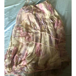 ツモリチサト(TSUMORI CHISATO)のツモリチサト 膝丈 柄 スカート(ひざ丈スカート)