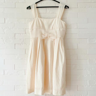 フィント(F i.n.t)の新品未使用♡定価12,000円♡Barbie白ドレス JSK ワンピース(ひざ丈ワンピース)