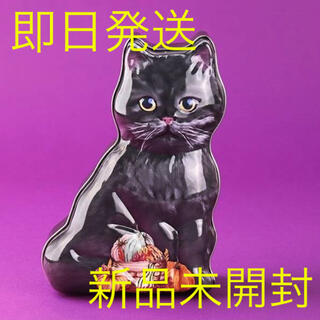 KALDI - カルディ ハロウィン 黒ネコシェイプ缶 お菓子 KALDI 小物入れ 新品
