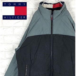 トミーヒルフィガー(TOMMY HILFIGER)のトミーヒルフィガー フラッグロゴ ワンポイント 中綿ジャケット ブルゾン XL(ブルゾン)
