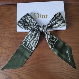 クリスチャンディオール(Christian Dior)のクリスチャンディオール スカーフ グリーン❗️シンプルでオシャレ❗️❗️(バンダナ/スカーフ)