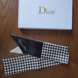 クリスチャンディオール(Christian Dior)のクリスチャンディオール スカーフ 黒❗️シンプルでオシャレ❗️❗️(バンダナ/スカーフ)