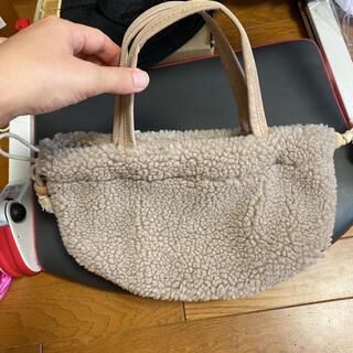 サマンサモスモス(SM2)のモコモコバッグ 巾着バッグ SM2(ハンドバッグ)
