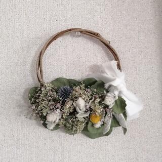 ユーカリの花かごリース(リース)