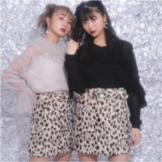 バブルス(Bubbles)の完売商品♡バブルス レオパード柄スカート(ミニスカート)