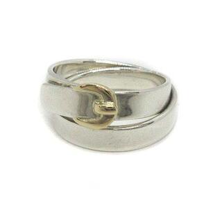 Hermes - エルメス ダブル トゥルー ベルト リング 指輪 シルバー ゴールド 12号