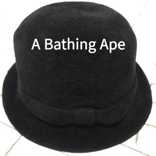 A BATHING APE - A BATHING APE ベイシングエイプ ラビット フェルト ハット L