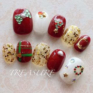 ♡クリスマス詰め込みネイル♡