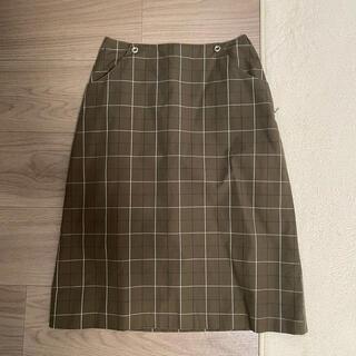 サマンサモスモス(SM2)の秋物 サマンサモスモス SM2 タイトスカート カーキ(ひざ丈スカート)
