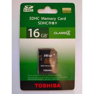東芝 - TOSHIBA SDカード 16GB CLASS4 ☆ 新品未開封 ☆ 送料無料