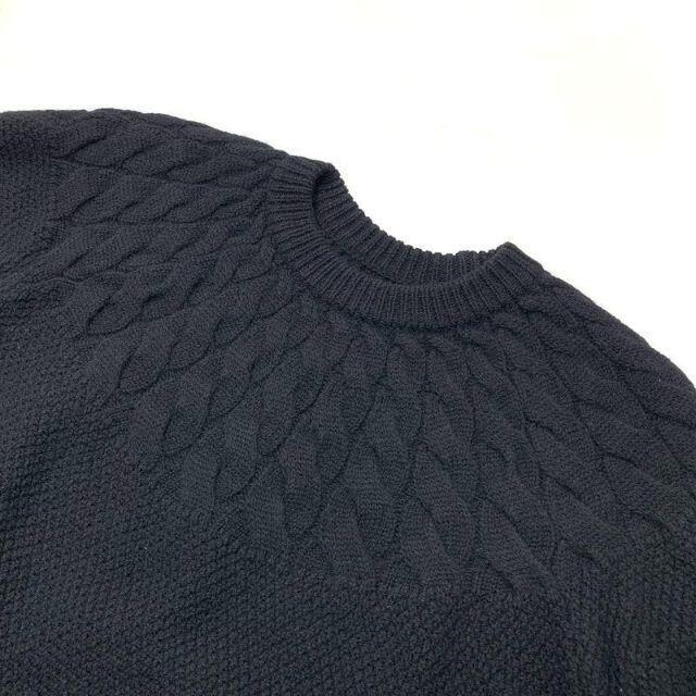 uniform experiment(ユニフォームエクスペリメント)のuniform experiment CABLE CREW NECK KNIT メンズのトップス(ニット/セーター)の商品写真