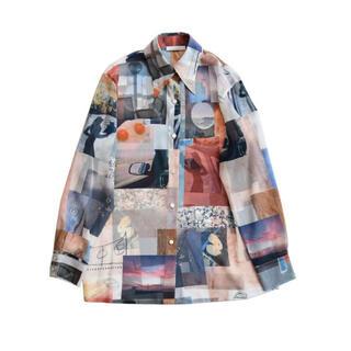 フィーニー(PHEENY)のPHEENY Print chiffon shirt プリントシフォンシャツ(シャツ/ブラウス(長袖/七分))