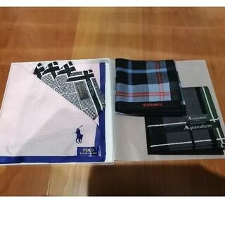 ポロラルフローレン(POLO RALPH LAUREN)のMen's新品ブランドハンカチ4枚セット(ハンカチ/ポケットチーフ)