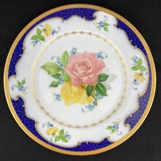 オオクラトウエン(大倉陶園)の希少 ◆ 大倉陶園 ばらルリ金彩 飾り皿(食器)