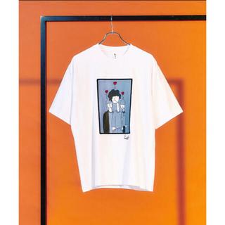 TAKEO KIKUCHI - tk.TAKEO KIKUCHI コラボポートレートTシャツ Lサイズ