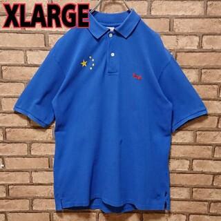エクストララージ(XLARGE)のXLARGE エクストララージ フロント 刺繍 ロゴ メンズ 半袖 ポロシャツ(ポロシャツ)