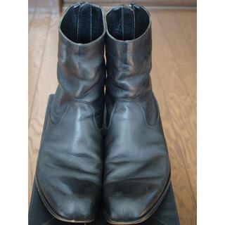 パドローネ(PADRONE)のパドローネ バックジップブーツ 黒 41サイズ 約26cm(ブーツ)